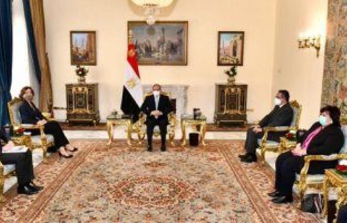 مديرة اليونسكو: لقاء الرئيس السيسى شهد اتفاق لأهمية الحفاظ على التراث المصرى