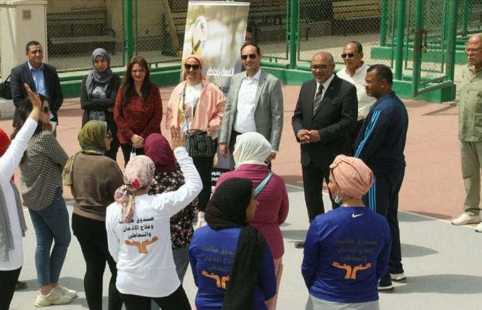 صندوق مكافحة الإدمان يطلق يوما رياضيا لأول مرة للفتيات المتعافيات من التعاطى