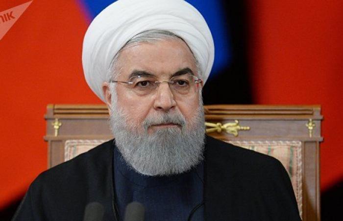 روحاني: لأول مرة في تاريخها تأتي أمريكا وتعترف بفشلها