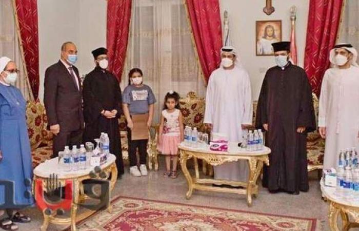 تفاصيل زيارة الصداقة والمحبة من سفير الإمارات إلى كنيسة طيبة للكاثوليك |صور