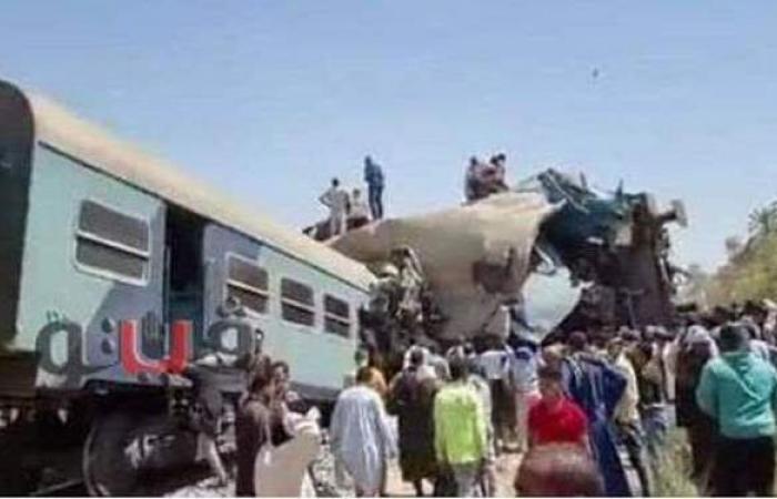 النيابة العامة: 25 مليون جنيه خسائر حادث تصادم قطاري سوهاج