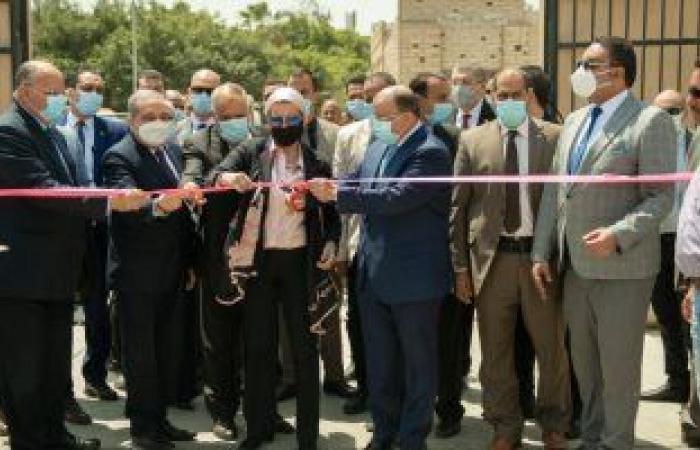 وزراء التنمية المحلية والبيئة والإنتاج الحربي يفتتحون محطة نقل مخلفات المقطم