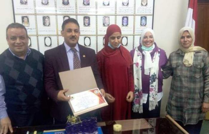 جامعة المنيا تكرم كفيفة تتولى إدارة قسم لذوي الاحتياجات الخاصة