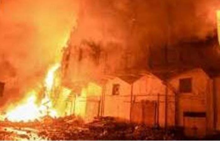 حريق هائل في منزل بقنا