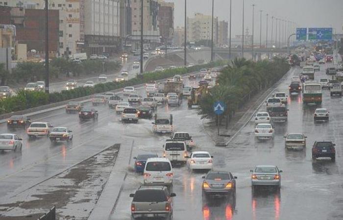 أمطار رعدية وأتربة على المدينة المنورة لمدة 9 ساعات