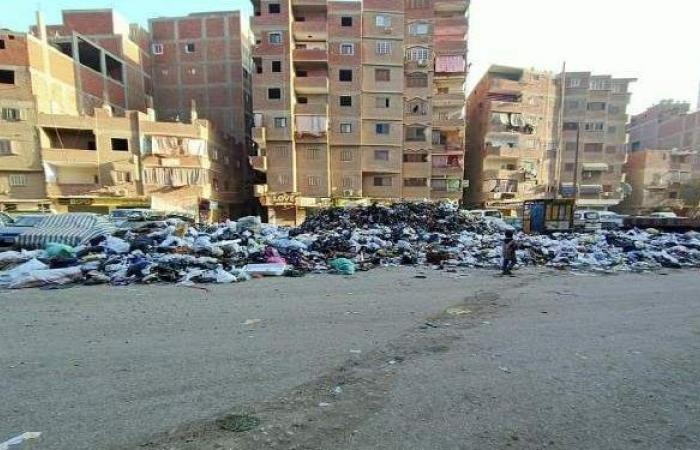القمامة تحاصر عواصم المدن بالقليوبية وتتسبب في حرائق مستمرة |صور