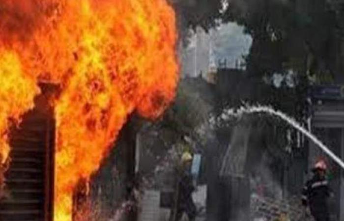 التحقيق في نشوب حريق مخزن مجاور لمحطة مترو تحت الإنشاء