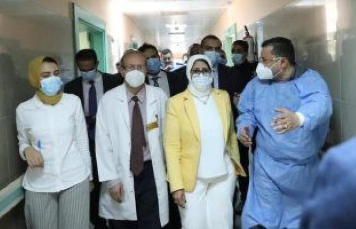 وزيرة الصحة: جميع مصابى قطار طوخ بالمستشفيات يتلقون العلاج والرعاية اللازمة