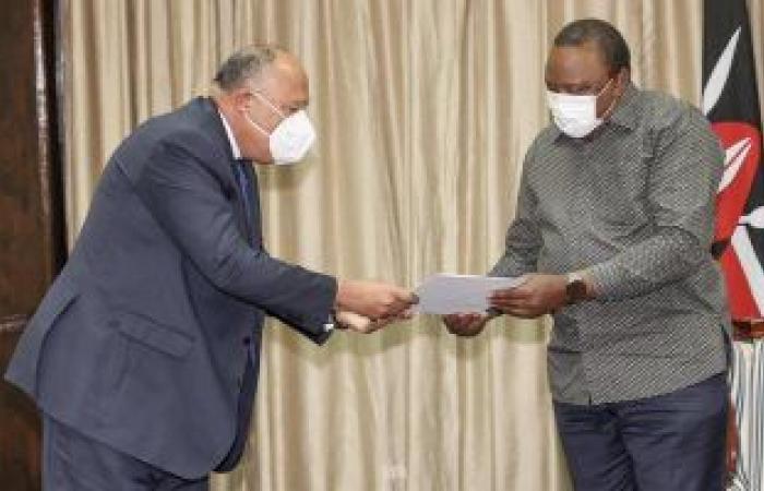 وزير الخارجية يستعرض مع رئيس كينيا مجريات اجتماعات كينشاسا حول سد النهضة