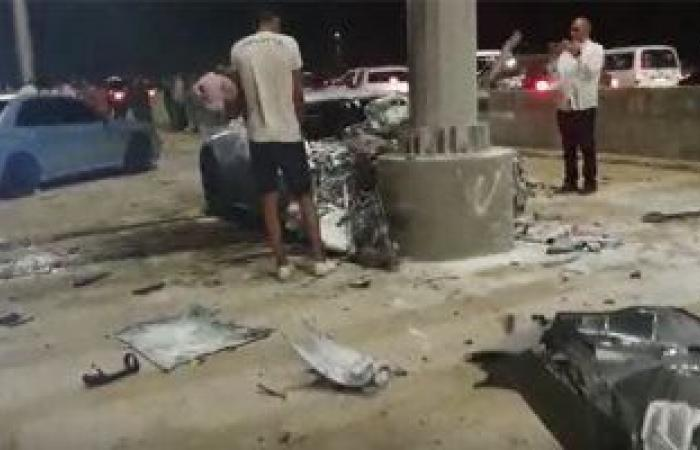 مصرع 3 أشخاص وإصابة آخرين فى حادث مروع بالقاهرة الجديدة.. فيديو وصور