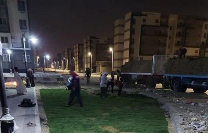 جهاز حدائق أكتوبر: استمرار أعمال الزراعة والتشجير بمشروع الاسكان الاجتماعي وسكن مصر