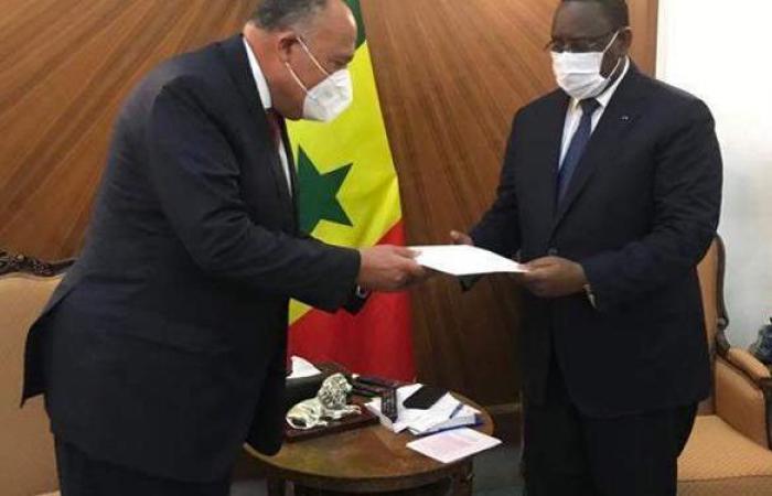 وزير الخارجية في داكار لتسليم رسالة من السيسي لنظيره السنغالي بشأن سد النهضة