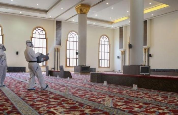 الشؤون الإسلامية تغلق 39 مسجدًا مؤقتًا في 8 مناطق