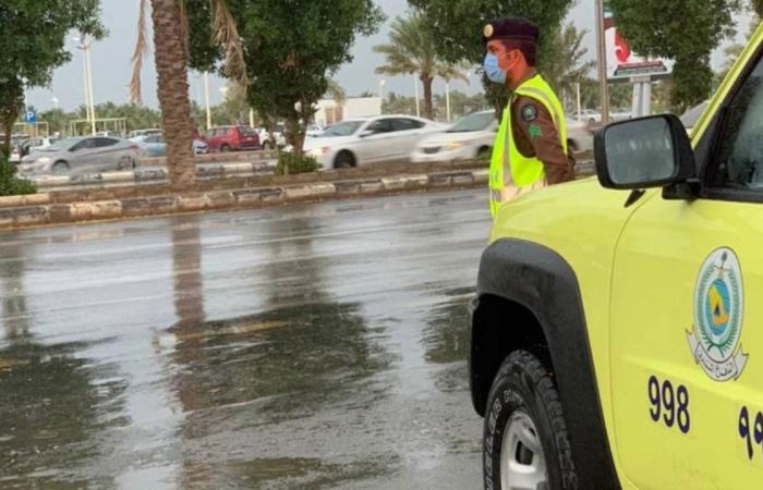 أمطار متوسطة إلى غزيرة تستمر ساعات على 3 مناطق