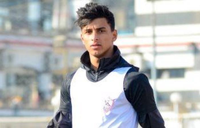 أحمد عيد لاعب الزمالك الشاب يتعرض لحادث بسيارته