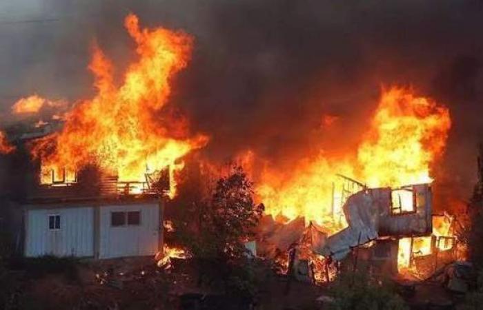 السيطرة على حريق في مصنع مراتب بقليوب