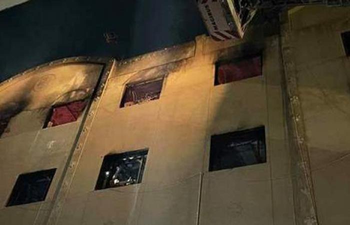 المعاينة الأولية تكشف سبب وحجم خسائر حريق كنيسة مارمينا بالعمرانية