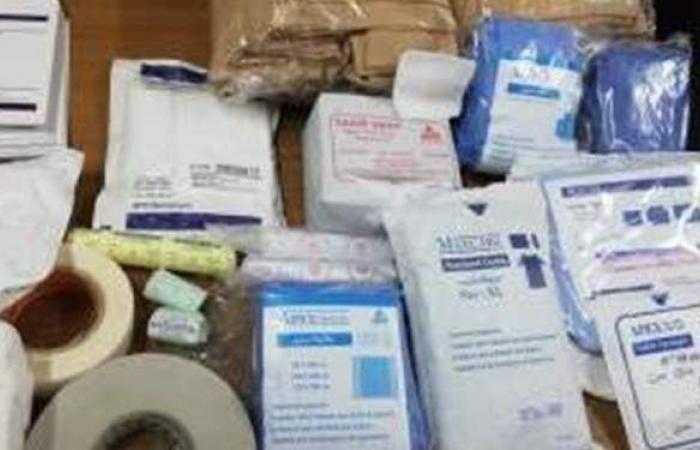 ضبط 210 آلاف قطعة مستلزمات طبية غير مطابقة للمواصفات بالسيدة زينب