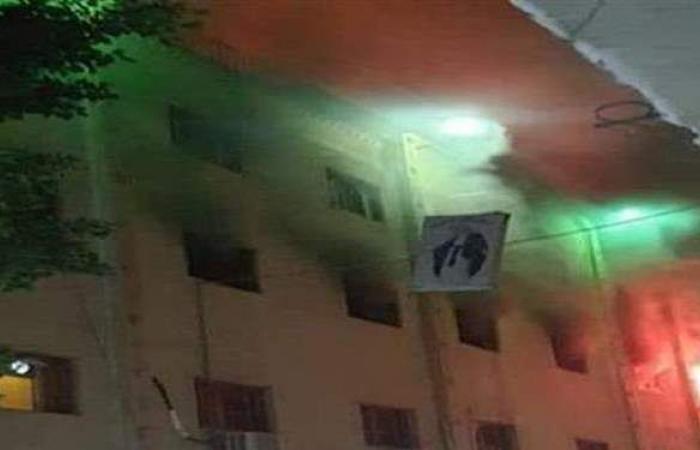 إصابة ضابطين من قوات الحماية المدنية بالجيزة في حريق كنيسة ماري مينا