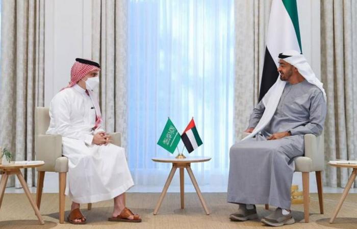 ولي عهد أبوظبي يبحث مع وزير الخارجية السعودي الأحداث الإقليمية والدولية