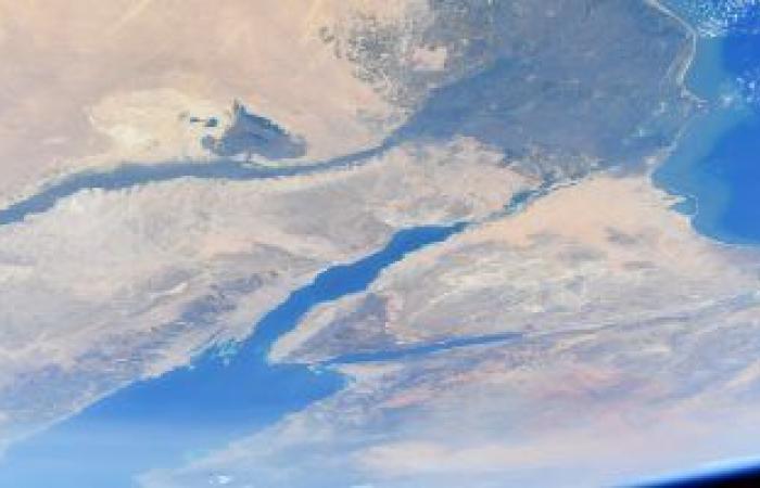 مصر من فوق حاجة تانية.. رائد أمريكى يلتقط صورة للدلتا وسيناء والنيل من الفضاء