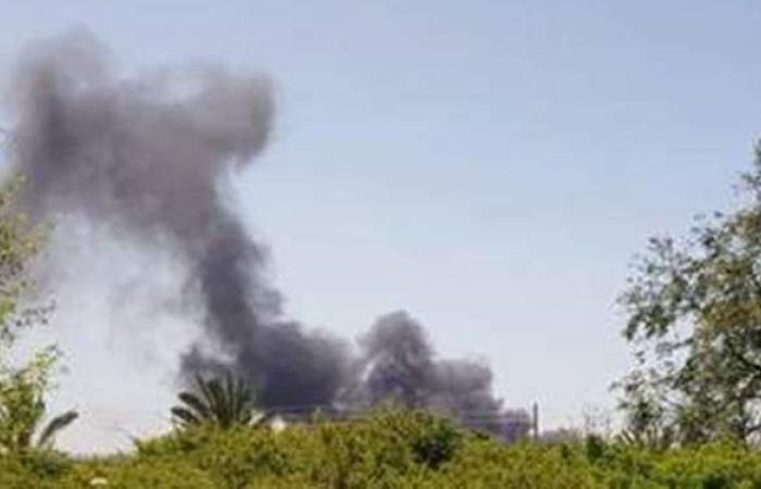 لحظة اندلاع حريق هائل بالقرب من مطار بن جوريون في إسرائيل   فيديو