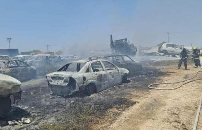حريق هائل في مطار بن جوريون الإسرائيلي | صور