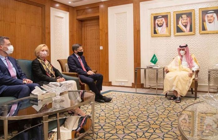 وزير الخارجية يستقبل يبحث مع مسؤول أمريكي القضايا الإقليمية والدولية