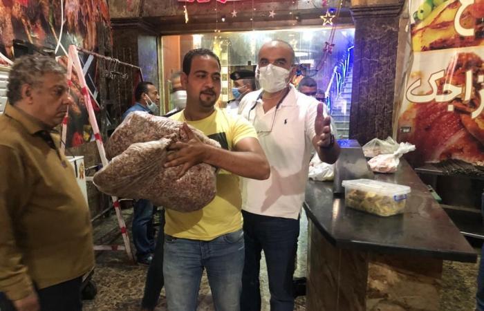 ضبط كميات لحوم فاسدة وتحرير 23 محضرا فى حملة على الأسواق بالدقى.. صور
