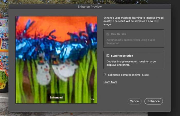 تحسين جودة الصور بالفوتوشوب عبر Super Resolution