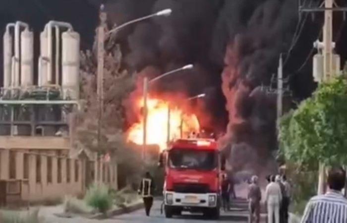 حريق يلتهم مصنع كيماويات في قم