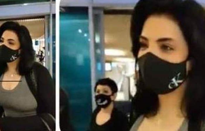 لحظة وصول حورية فرغلي المطار بعد نجاح عمليات أنفها وتوجه رسالة للمتنمرين عليها   فيديو