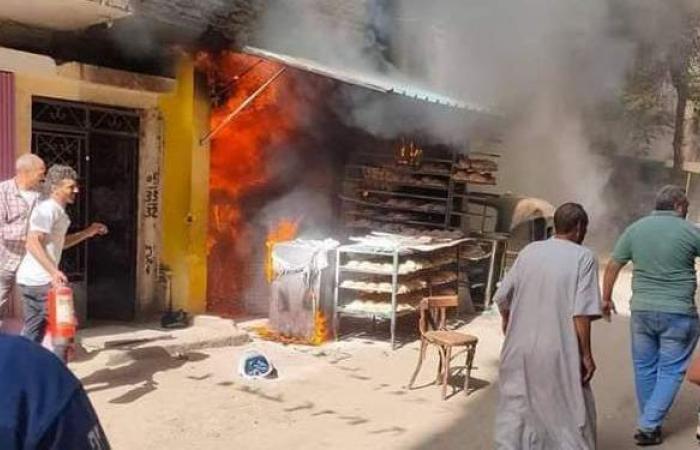 مصرع 4 أشخاص وإصابة آخر في حريق مخبز بدار السلام | صور