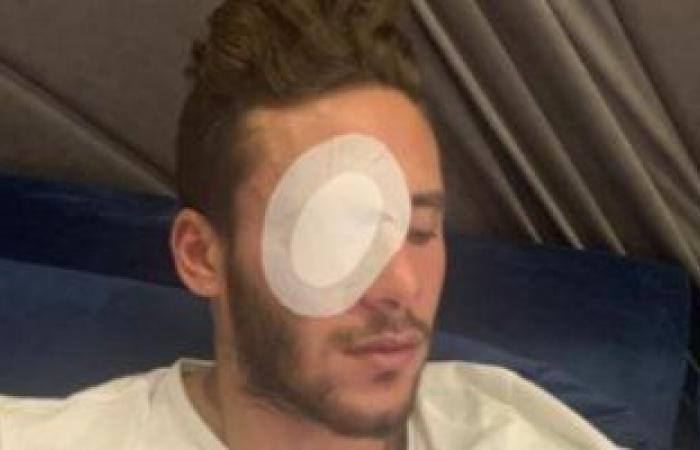 إصابة رمضان صبحى في عينه اليسرى