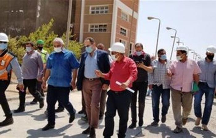 رئيس جهاز بني سويف الجديدة يتفقد مشروعات المرافق الجاري تنفيذها بالمدينة