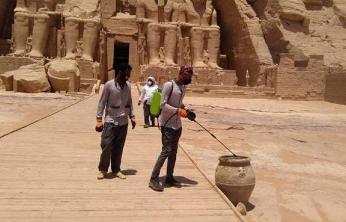 أمين المجلس الأعلى للآثار يتابع عمليات تعقيم المتاحف والمواقع الأثرية