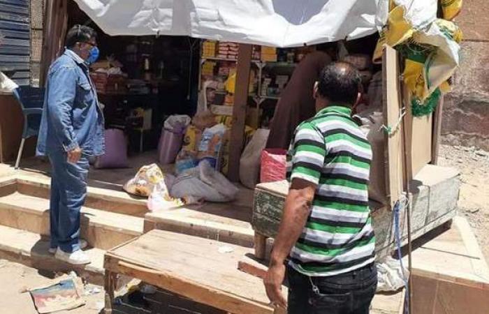 حملات مكثفة لإزالة الإشغالات بالقنطرة شرق الإسماعيلية