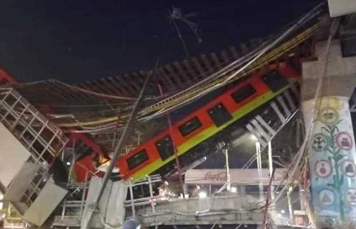 بالفيديو.. انهيار قطار في المكسيك لحظة عبوره جسرًا معلقًا