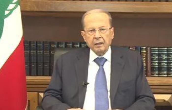 الرئيس اللبنانى عون يبحث استئناف مفاوضات ترسيم الحدود البحرية مع إسرائيل