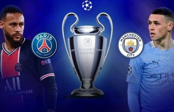موعد مباراة مانشستر سيتي ضد باريس سان جيرمان في إياب نصف نهائي الأبطال