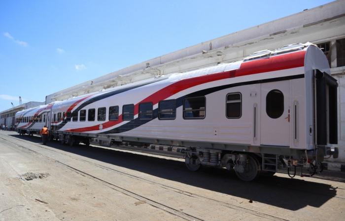 وصول 28 عربة سكة حديد روسية جديدة عبر ميناء الإسكندرية.. صور