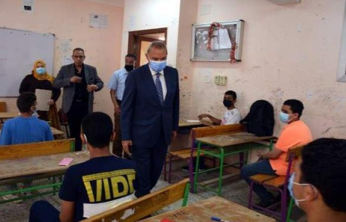 محافظ القليوبية يتفقد لجان امتحانات نهاية العام الدراسي للشهادة الإعدادية