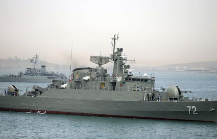 وكالة: سفينة عسكرية إيرانية تغرق بعد اندلاع حريق على متنها