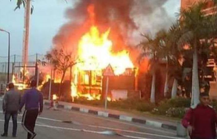 حريق داخل النادي الأهلي.. وقوات الحماية المدنية تسيطر عليه