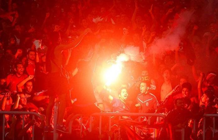اندلاع حريق ضخم في مقر النادي الأهلي المصري