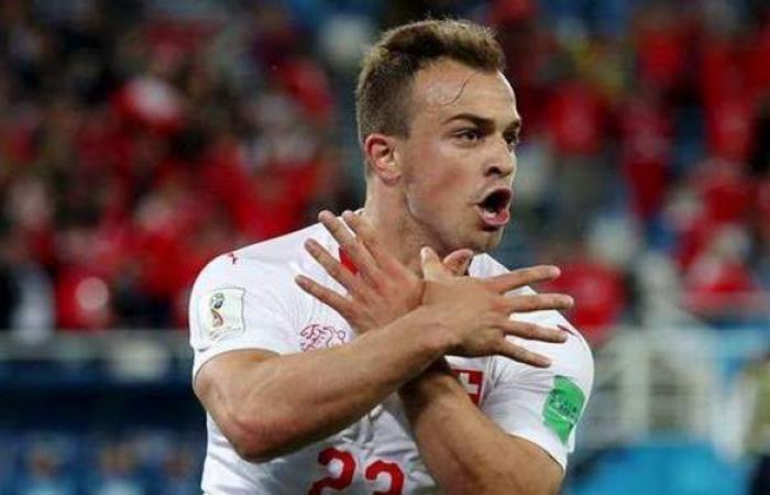 شاكيري يحمل شارة الكابتن لمنتخب سويسرا أمام إسبانيا
