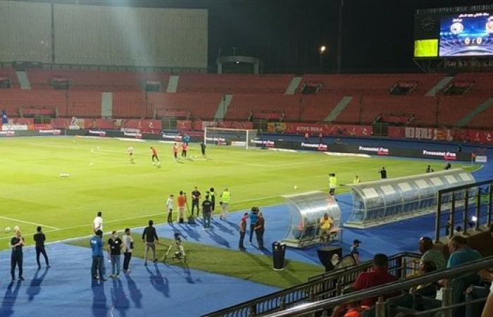 لافتة رائعة بين حراس الأهلي وبيراميدز قبل بداية المباراة