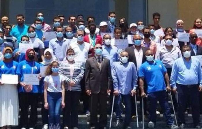 محافظ الإسكندرية يكرم المتأهلين لأولمبياد طوكيو   صور