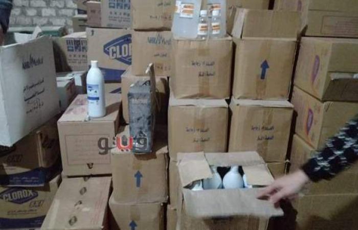 مصادرة 12 ألف قطعة مستلزمات طبية مجهولة المصدر داخل شركة بالقاهرة
