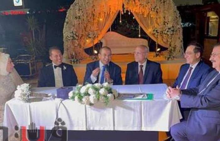 بعد أنباء التعديل الوزاري.. وزير البترول يظهر في حفل زفاف